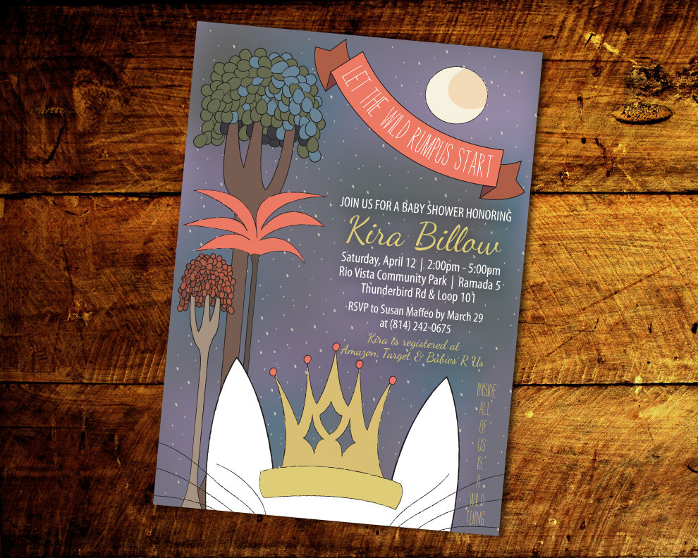 brianna lynn photography & design where the wild things are invitation,